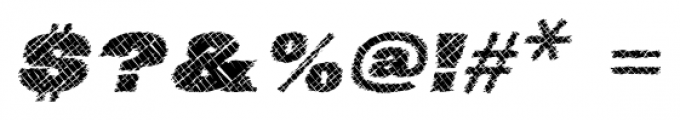 Neultica 4F Scratched Black Italic Font OTHER CHARS