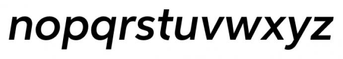 Neutro Demi Italic Font LOWERCASE