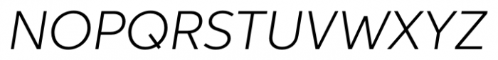 Neutro Light Italic Font UPPERCASE