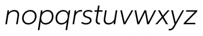 Neutro Light Italic Font LOWERCASE