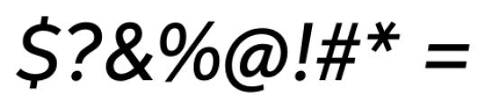 Neutro Medium Italic Font OTHER CHARS