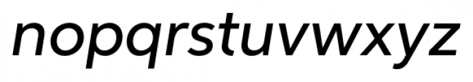 Neutro Medium Italic Font LOWERCASE