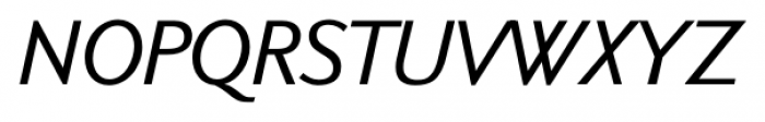 New Millennium Linear Oblique Font UPPERCASE