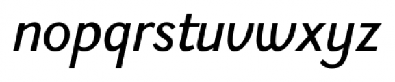 New Millennium Linear Oblique Font LOWERCASE