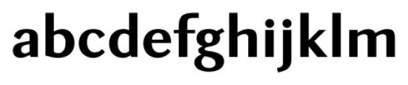 New Millennium Sans Bold Font LOWERCASE