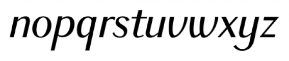 New Millennium Sans Italic Font LOWERCASE