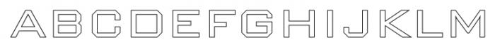 Nexstar Light C Font UPPERCASE