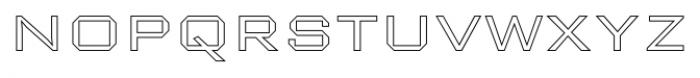 Nexstar Light D Font LOWERCASE
