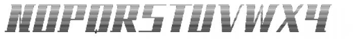 NEW Gradient Font UPPERCASE