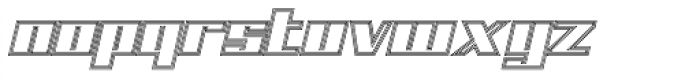 NEW Lined Font LOWERCASE