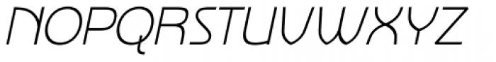 Nebbiolo Light Italic Font UPPERCASE