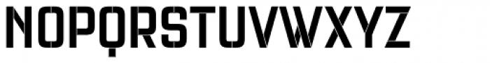 Necia Stencil 1 Black Unicase Font UPPERCASE