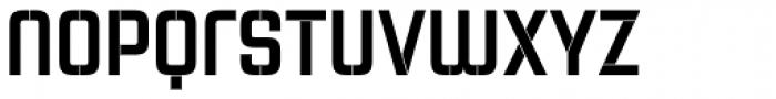 Necia Stencil 1 Black Unicase Font LOWERCASE