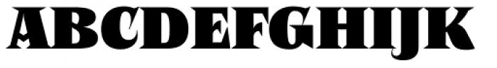 Negro Black Font UPPERCASE