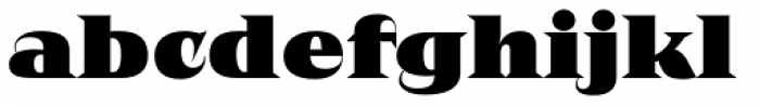 Negro Black Font LOWERCASE