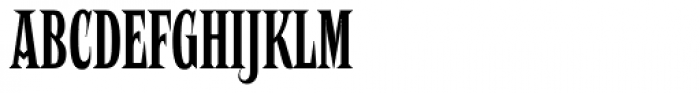 Negro Slim Font UPPERCASE