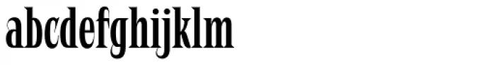 Negro Slim Font LOWERCASE
