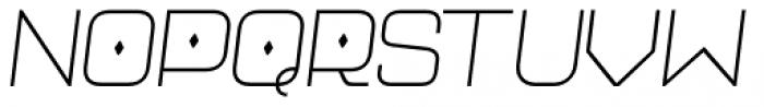 Neo Afrique Pro Light Oblique Font UPPERCASE