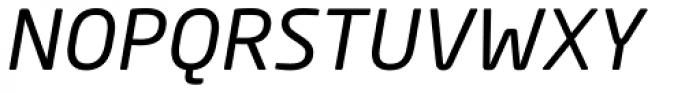 Neo Sans Paneuropean W1G Italic Font UPPERCASE
