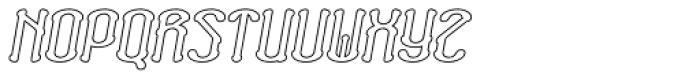 Neogot Outline Bold Italic Font UPPERCASE