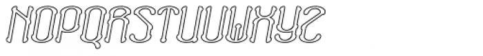 Neogot Outline Italic Font UPPERCASE