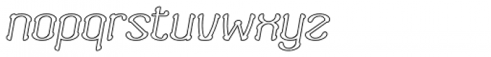 Neogot Outline Italic Font LOWERCASE