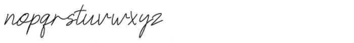 Neoncity Script Font LOWERCASE
