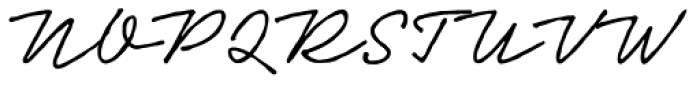 Neonoir Hand Font UPPERCASE