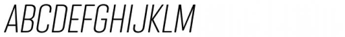 Nephrite Light Italic Font UPPERCASE