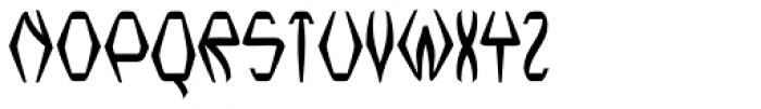 Nerdish Hex Bold Font UPPERCASE