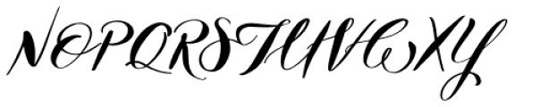 Nerine Regular Font UPPERCASE