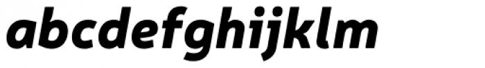 Neris Black Italic Font LOWERCASE