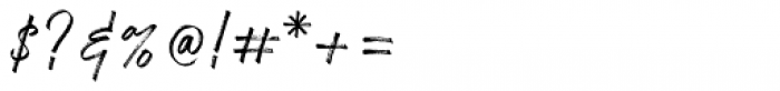 Nervous Regular Font OTHER CHARS