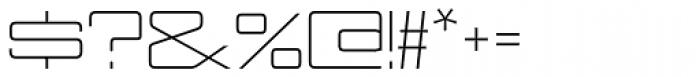 Nesobrite Exp Light Font OTHER CHARS