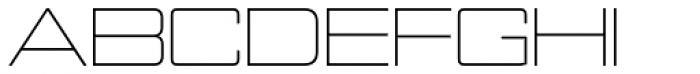 Nesobrite Exp Light Font UPPERCASE