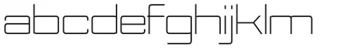 Nesobrite Exp Light Font LOWERCASE