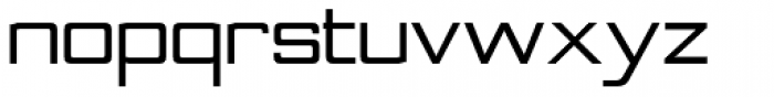 Nesobrite SemiExp Bold Font LOWERCASE