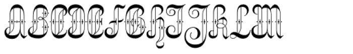 Netherland Perpendicular Regular Font UPPERCASE