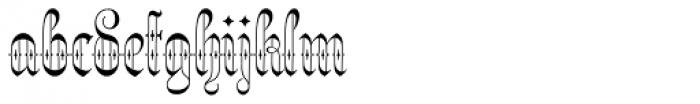 Netherland Perpendicular Regular Font LOWERCASE