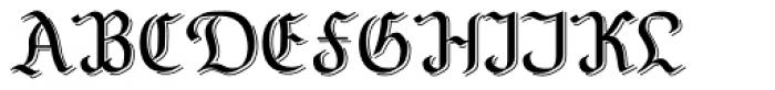 NeuAltisch Shadowed Font UPPERCASE