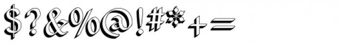NeuAltisch ShadowedLeft Font OTHER CHARS