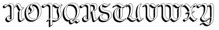NeuAltisch ShadowedLeft Font UPPERCASE
