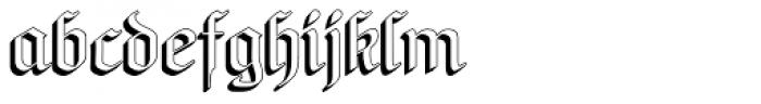 NeuAltisch ShadowedLeft Font LOWERCASE