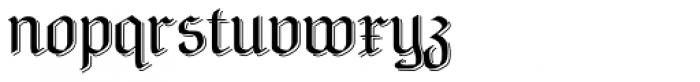 NeuAltisch Shadowed Font LOWERCASE