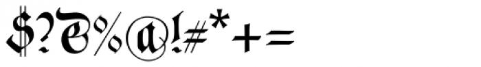 Neudoerffer Fraktur Pro Regular 3 Font OTHER CHARS