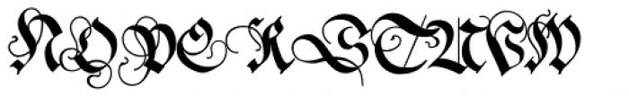 Neudoerffer Fraktur Pro Regular 3 Font UPPERCASE