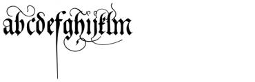Neudoerffer Fraktur Pro Regular 3 Font LOWERCASE