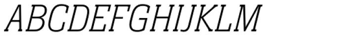 Neue Aachen Pro Thin Italic Font UPPERCASE