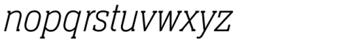 Neue Aachen Std Thin Italic Font LOWERCASE