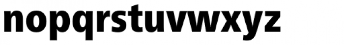 Neue Frutiger Paneuropean W1G Condensed Black Font LOWERCASE